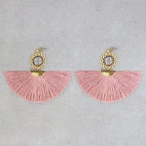 Arete Mini Atrapasueños Rosa