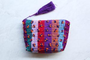 Monedero mexicano en telar Multicolor