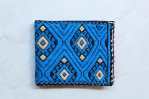 Cartera de algodón en telar de cintura Azul