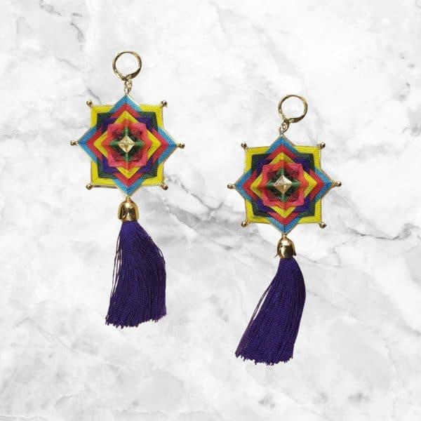 Aretes de Mandalas Multicolor